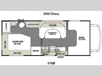 Floorplan - 2013 Coachmen RV Freelander 21QB  Chevy 4500