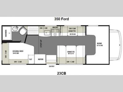 Floorplan - 2013 Coachmen RV Freelander 23CB Ford 350