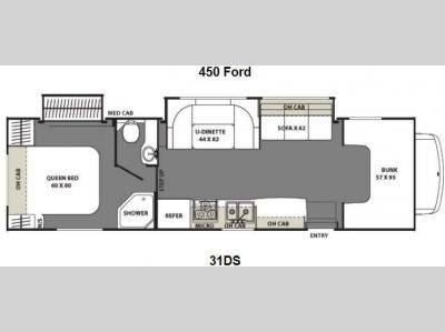 Floorplan - 2013 Coachmen RV Freelander 31DS Ford 450