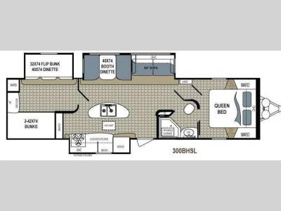 Floorplan - 2013 Dutchmen RV Kodiak 300BHSL