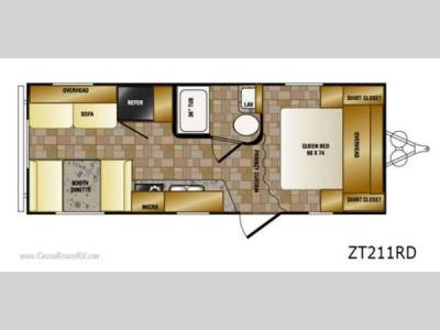 Floorplan - 2013 CrossRoads RV Z 1 ZT211RD