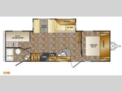 Floorplan - 2013 CrossRoads RV Z 1 ZT271BH