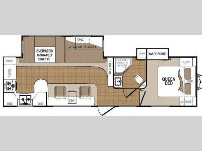 Floorplan - 2013 Dutchmen RV Denali 289RK
