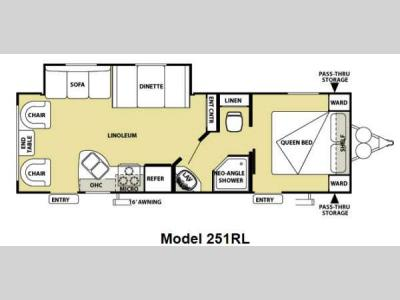 Floorplan - 2013 Forest River RV Salem Cruise Lite 251RLXL