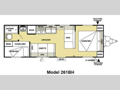 Floorplan - 2013 Forest River RV Salem Cruise Lite 261BHXL