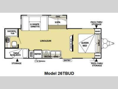 Floorplan - 2013 Forest River RV Salem 26TBUD