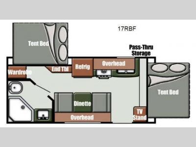 Floorplan - 2013 Gulf Stream RV Gulf Breeze Sport 17 RBF