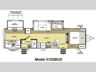 Floorplan - 2013 Forest River RV Salem Hemisphere 312QBUD