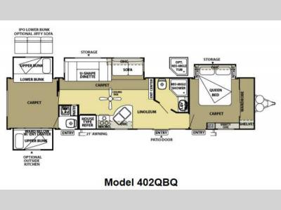 Floorplan - 2013 Forest River RV Salem Villa Classic 402QBQ