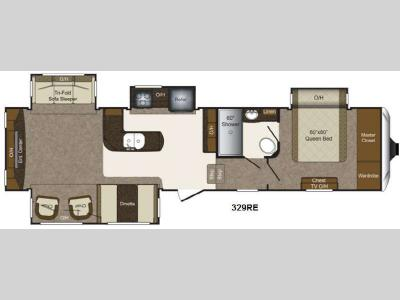 Floorplan - 2013 Keystone RV Laredo 329RE