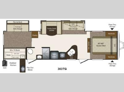 Floorplan - 2013 Keystone RV Laredo Super Lite 303TG