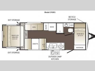 Floorplan - 2013 Keystone RV Outback 210RS