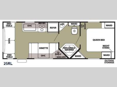 Floorplan - 2013 Forest River RV Patriot Edition 25RL