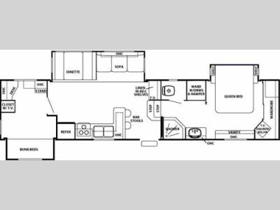 Floorplan - 2006 Forest River RV Cedar Creek 362BTS