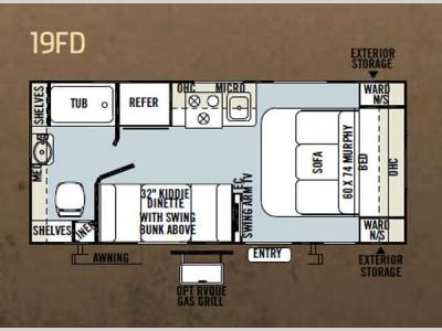 Floorplan - 2013 Forest River RV Flagstaff Micro Lite 19FD