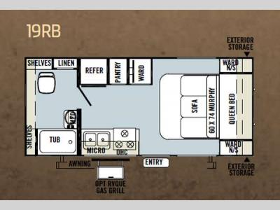Floorplan - 2013 Forest River RV Flagstaff Micro Lite 19RB