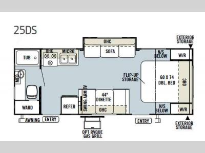 Floorplan - 2013 Forest River RV Flagstaff Micro Lite 25DS
