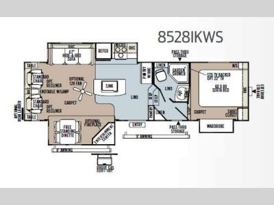 Floorplan - 2013 Forest River RV Flagstaff Classic Super Lite 8528IKWS