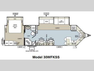 Floorplan - 2013 Forest River RV Flagstaff V-Lite 30WFKSS