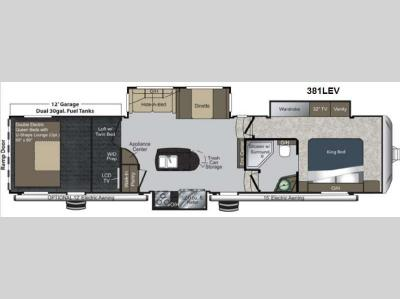 Floorplan - 2013 Keystone RV Raptor 381LEV