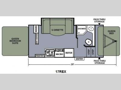 Floorplan - 2013 Coachmen RV Apex Ultra-Lite 17REX
