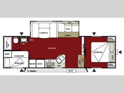 Floorplan - 2013 Forest River RV Wildwood 26DDSS