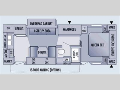 Floorplan - 2006 Jayco Jay Flight 25RKS