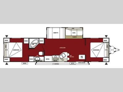 Floorplan - 2013 Forest River RV Wildwood 37BHSS2Q