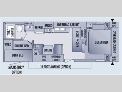 Floorplan - 2006 Jayco Jay Flight 27BH