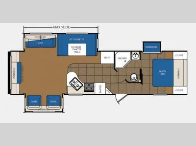 Floorplan - 2013 Prime Time Manufacturing Avenger 32RES