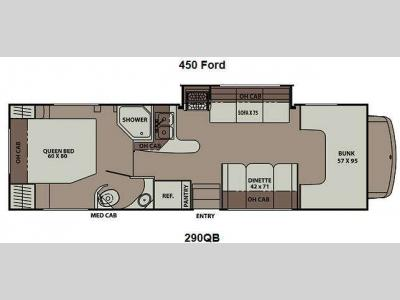 Floorplan - 2013 Coachmen RV Leprechaun 290QB Ford 450