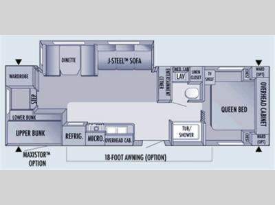 Floorplan - 2006 Jayco Jay Flight 29FBS