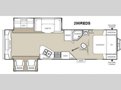 Floorplan - 2013 Coachmen RV Freedom Express 296REDS