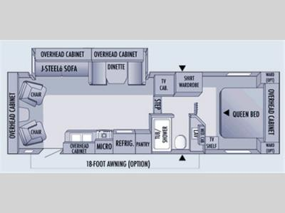 Floorplan - 2006 Jayco Jay Flight 27.5RLS