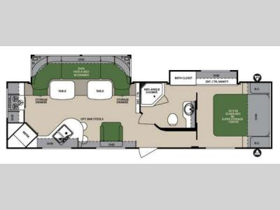Floorplan - 2013 Forest River RV Surveyor Select SV 301