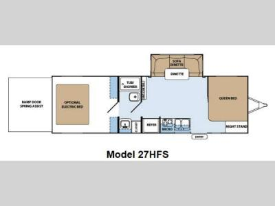 Floorplan - 2013 Forest River RV XLR Hyper Lite 27HFS