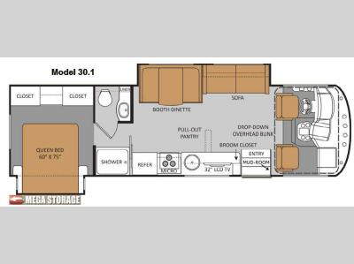 Floorplan - 2013 Thor Motor Coach ACE 30 1