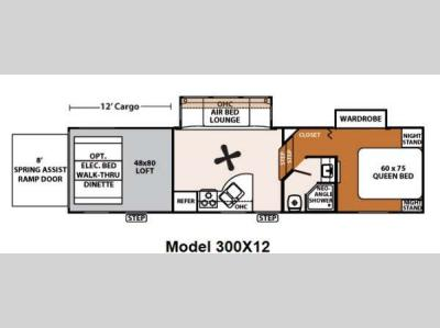 Floorplan - 2013 Forest River RV XLR Thunderbolt 300X12