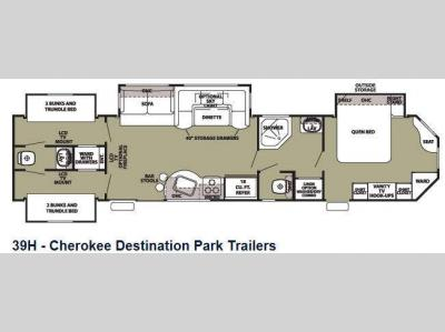Floorplan - 2013 Forest River RV Cherokee 39H