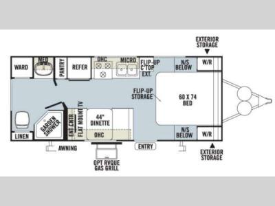 Floorplan - 2013 Forest River RV Rockwood Mini Lite 2304