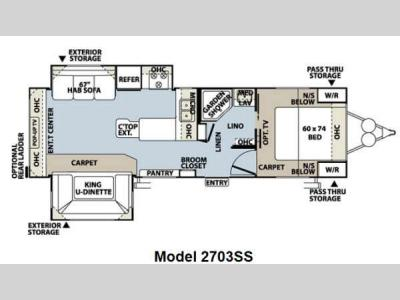 Floorplan - 2013 Forest River RV Rockwood Ultra Lite 2703SS