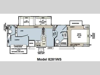 Floorplan - 2013 Forest River RV Rockwood Signature Ultra Lite 8281WS