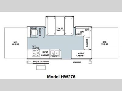 Floorplan - 2013 Forest River RV Rockwood High Wall Series HW276
