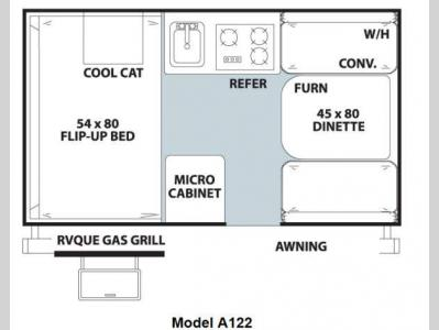 Floorplan - 2013 Forest River RV Rockwood Hard Side Series A122