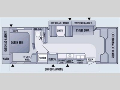 Floorplan - 2006 Jayco Granite Ridge 3100SS