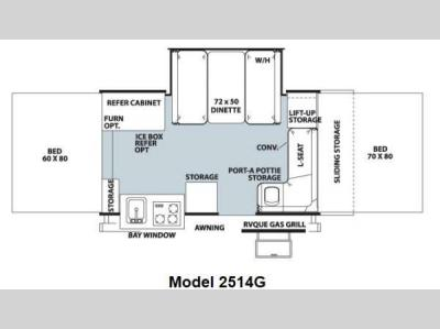Floorplan - 2013 Forest River RV Rockwood Premier 2514G