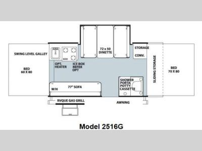 Floorplan - 2013 Forest River RV Rockwood Premier 2516G