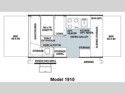 Floorplan - 2013 Forest River RV Rockwood Freedom Series 1910