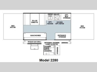 Floorplan - 2013 Forest River RV Rockwood Freedom Series 2280