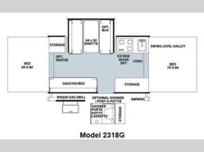 Floorplan - 2013 Forest River RV Rockwood Freedom Series 2318G